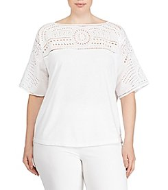 Lauren Ralph Lauren® Plus Size Eyelet-Embroidered Top