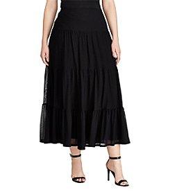 Lauren Ralph Lauren® Tiered Mesh Maxi Skirt