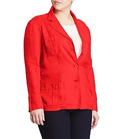 Lauren Ralph Lauren® Plus Size Linen 3-Button Blazer