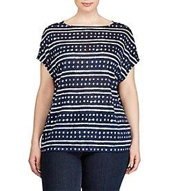 Lauren Ralph Lauren® Plus Size Tie-Dye Linen Knit Top