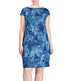 Lauren Ralph Lauren® Plus Size Linen Jersey Shift Dress