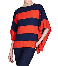 Lauren Ralph Lauren® Striped Sweater Poncho