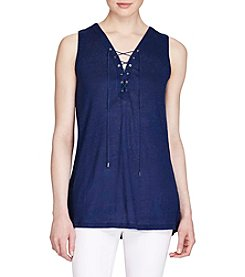 Lauren Ralph Lauren® Lace-Up Tunic Top
