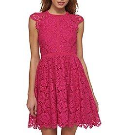 Jessica Simpson Mock Neck Lace Dress