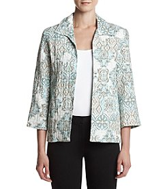 Alfred Dunner® Petites' Printed Pleated Jacket