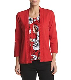 Alfred Dunner® Petites' Floral Layered Look Sweater