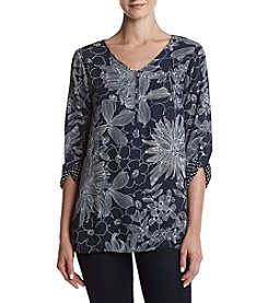 Alfred Dunner® Petites' Floral Printed Woven Top