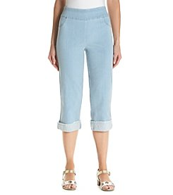 Alfred Dunner® Petites' Lace Cuff Capris