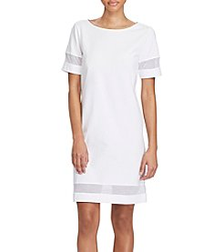 Lauren Ralph Lauren® Mesh-Insert Short Sleeve Dress