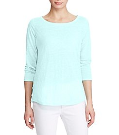 Lauren Ralph Lauren® Linen Jersey Lace-Up Top