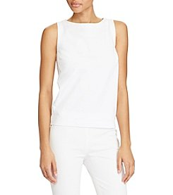 Lauren Ralph Lauren® Embroidered-Panel Jersey Top
