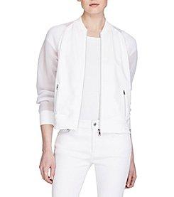 Lauren Ralph Lauren® Mesh-Sleeve Bomber Jacket