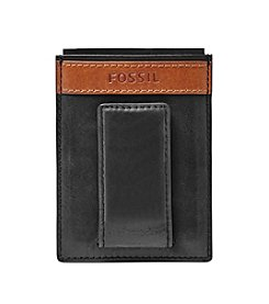 Fossil® Men's Quinn Leather Magnetic Card Case Wallet