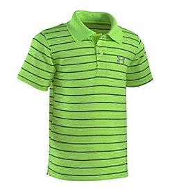 Under Armour® Boys' 4-7 Short Sleeve Striped Polo