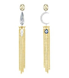 Swarovski® Half Moon Crystal Pierced Earrings