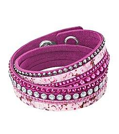 Swarovski® Crystal Floral Print Bracelet