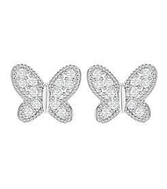 Swarovski® Field Crystal Studded Butterfly Earrings