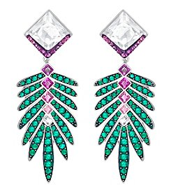 Swarovski® Crystal Leaf Stud Earrings