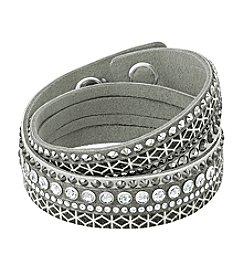 Swarovski® Crystal Geometric Patterned Bracelet