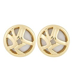 Laundry® Openwork Button Stud Earrings