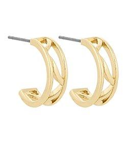 Laundry® Openwork C-Hoop Earrings