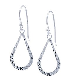 Athra Diamond Cut Open Teardrop Earrings