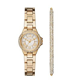 Michael Kors® Women's Petite Camille Stainless Steel Bracelet Watch Gift Set