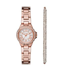 Michael Kors® Women's Petite Camille Stainless Steel Bracelet Watch 26mm Gift Set