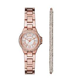Michael Kors® Women's Petite Camille Stainless Steel Bracelet Watch Gift Set