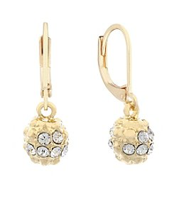 Gloria Vanderbilt® Simulated Crystal Leverback Fireball Drop Earrings