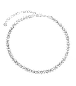 Gloria Vanderbilt Pearl Mesh Collar Necklace