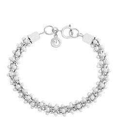 Gloria Vanderbilt® Simulated Pearl Mesh Line Bracelet