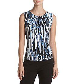 Calvin Klein Stripe Pleat Neck Cami