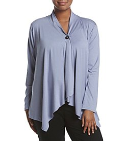 AGB® Plus Size Button Sweater