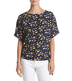 MICHAEL Michael Kors® Floral Side Tie Top