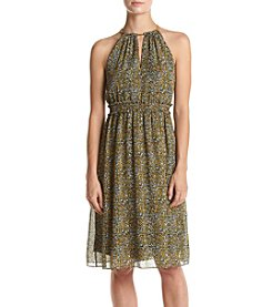 MICHAEL Michael Kors® Chain Neck PrintedDress