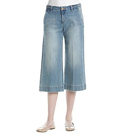 MICHAEL Michael Kors® Braid Waistband Wide Leg Jeans