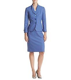 LeSuit® Jacquard Skirt Suit