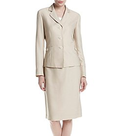 LeSuit® Three-Button Skirt Suit