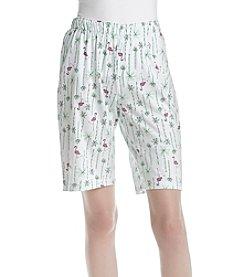 HUE® Flamingo Bermuda Shorts