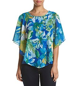 Alfred Dunner® Petites' Woven Overlay Top