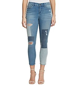 Miracle Jean® Faith Ankle Patchwork Jeans