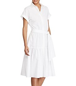Lauren Ralph Lauren® Cotton Fit And Flare Dress
