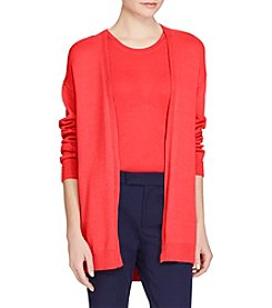 Lauren Ralph Lauren® Cotton Open Front Cardigan