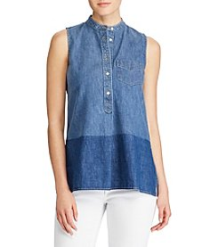 Lauren Ralph Lauren® Sleeveless Denim Shirt