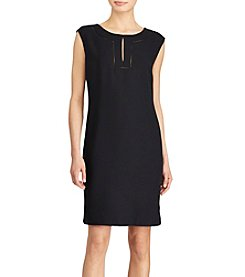Lauren Ralph Lauren® Lace Trim Georgette Dress