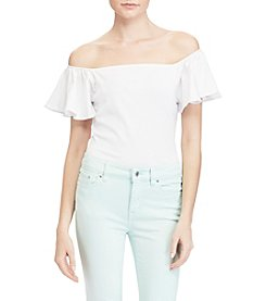 Lauren Ralph Lauren® Jersey Off The Shoulder Top