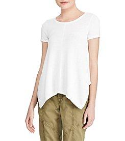 Lauren Ralph Lauren® Handkerchief Hem T Shirt