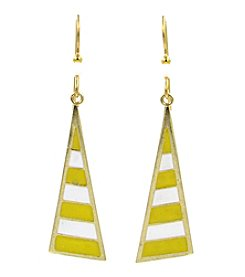 Silver Forest® Triangle With Stripes Earring.