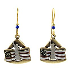 Silver Forest® Statue Of Liberty And American Flag Earring